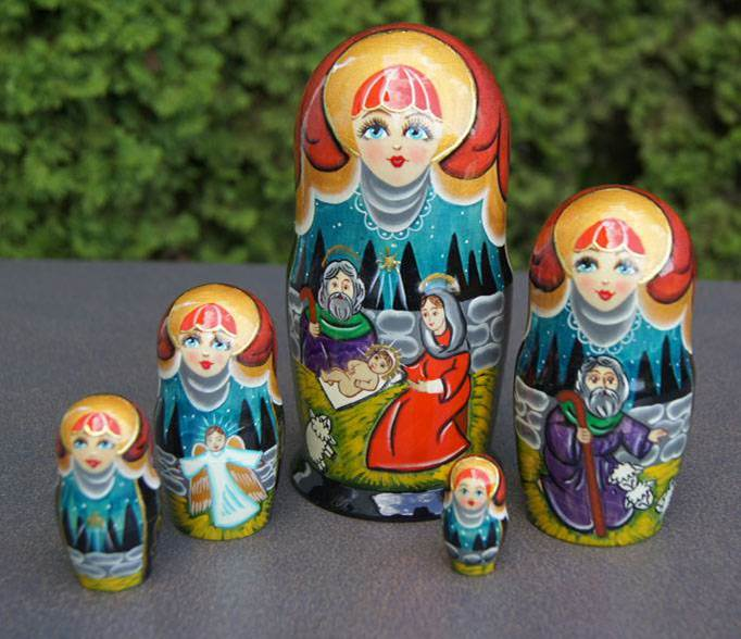 Large Nativity Nesting Doll