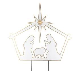 Nativity Scene Yard Stake
