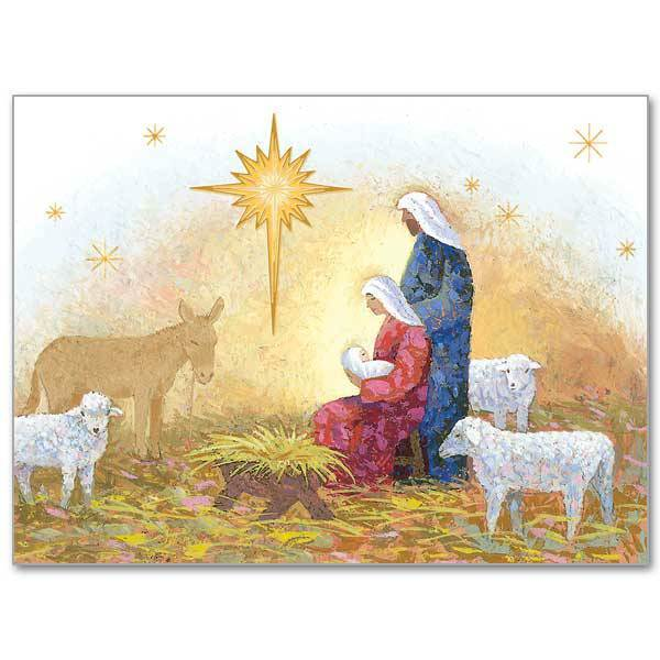 Nativity with Star Boxed Christmas Cards