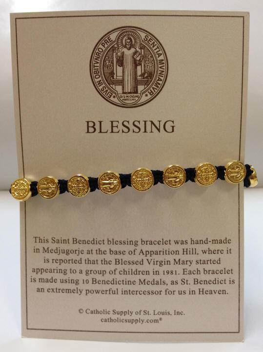 Navy/Gold Benedictine Bracelet - 03059