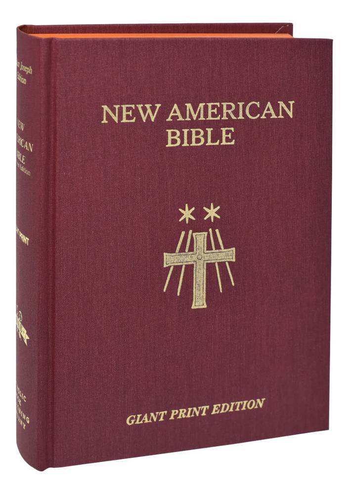 New American Bible Giant Type Cloth Edition Hardback