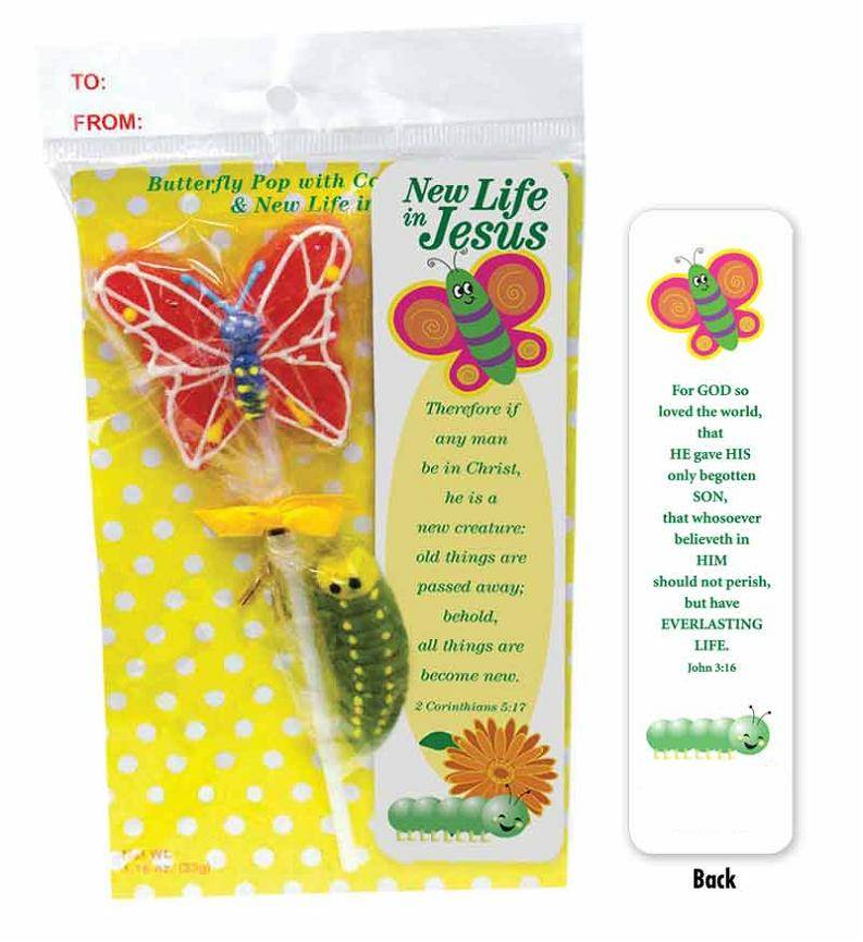 'New Life' Butterfly Pop with Gummie Caterpillar SEASONAL ITEM