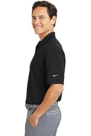 Nike Golf Dri-FIT Micro Pique Polo, Black with Embroidered Cross - PT363807