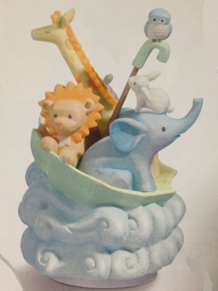 Noahs Ark Rotating Musical Figurine