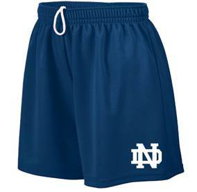 "Notre Dame HS Navy Gym Shorts, 5"" Inseam"