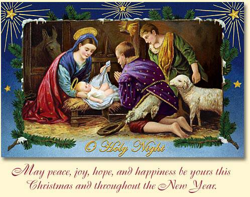 O holy night boxed christmas cards m4hsunfo