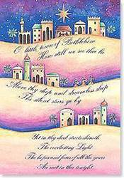 O Little Town of Bethlehem Boxed Cards boxed cards, christmas cards, seasonal cards, holiday cards, greeting cards, little town of bethlehem,C73970
