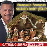OUR EXCLUSIVE! Fontanini 11 Piece Nativity Set with Stable *SIGNED BY EMANUELE FONTANINI