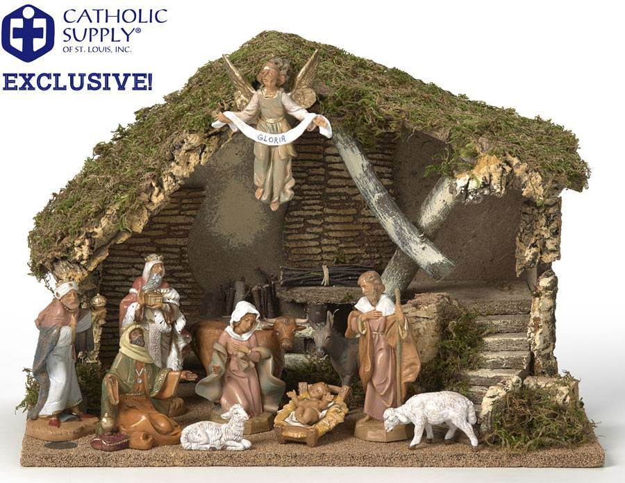 OUR EXCLUSIVE! Fontanini 11 Piece Nativity Set with Stable