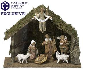 OUR EXCLUSIVE! Fontanini 7 Piece Nativity Set with Stable