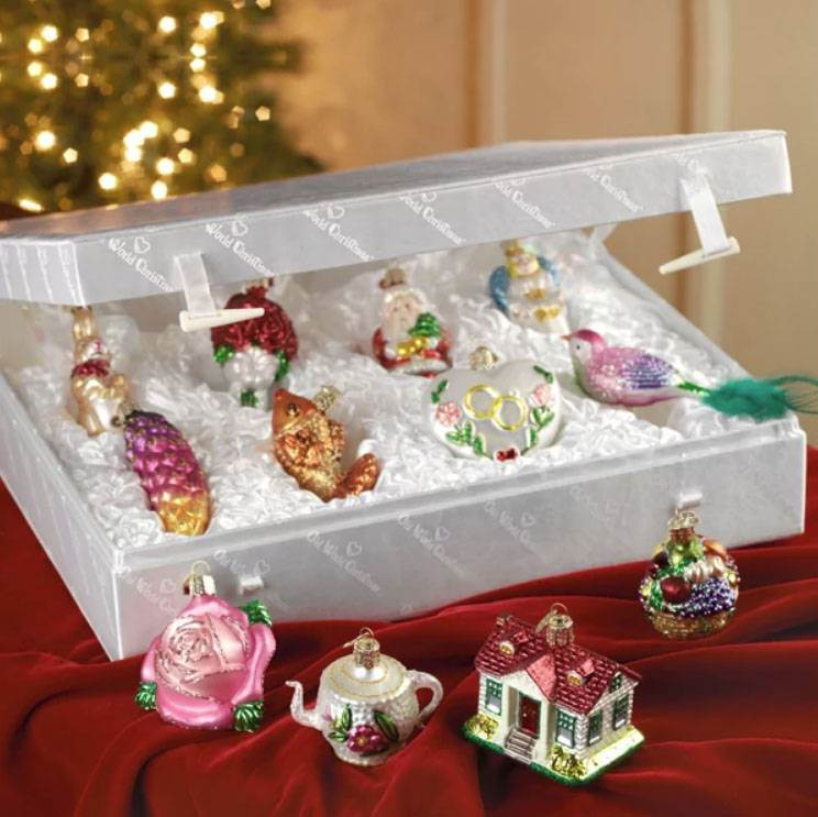 Old World 12pc Bride's Tree Ornament Set