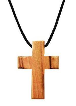 "Olive Wood Cross Pendant. (1.5"" Height)"