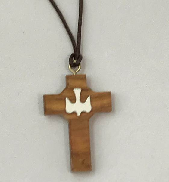 Olive Wood Cross with Dove