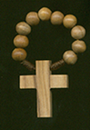 Olive Wood Finger Rosary