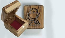 Olive Wood First Communion Box