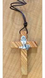 Olive Wood First Communion Necklace