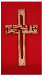 Olivewood Jesus Cross