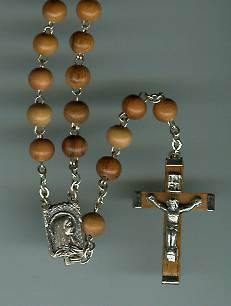 Olivewood Rosary with Olivewood Cross