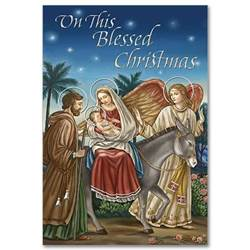 On This Blessed Christmas Boxed Christmas Cards christmas cards, box cards, holy family cards, wcr2059, holiday cards