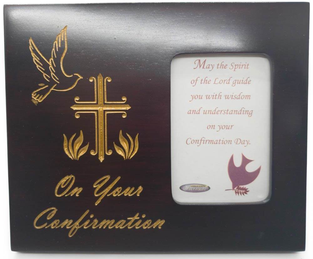 On Your Confirmation Mahogany Picture Frame