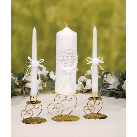 On This Day  I Will Marry My Friend... , Unity Candle Set unity candle, wedding gift, taper candles, 3 piece candle set, wedding candles