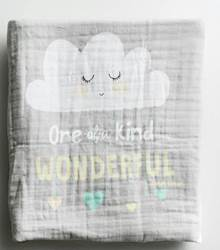 One-of-a-Kind Muslin Baby Blanket