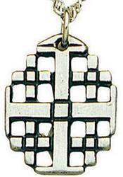 Open Jerusalem Cross Necklace