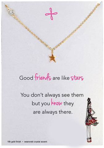 Original Star Charm Necklace, Gold