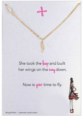 Original Wing Charm Necklace, Gold