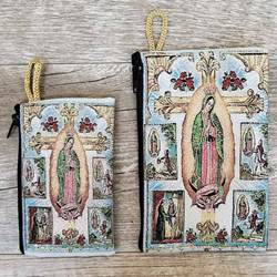 Our Lady Apparitions Woven Rosary Pouch from Turkey