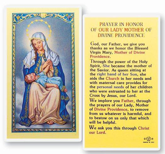 Our Lady Of Divine Providence Holy Card