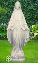"Our Lady Of Grace 24"" Outdoor Statue, Granite Finish"