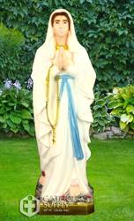 "Our Lady Of Lourdes, 24"" Full Color Vinyl Indoor/Outdoor Statue"