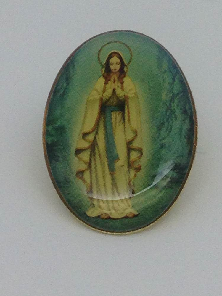 Our Lady Of Lourdes Lapel Pin/25 pkg