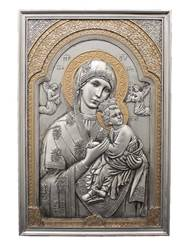 Our Lady Of Perpetual Help Plaque Pewter Style Finish