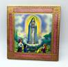 "Our Lady of Fatima 5.5"" Square Plaque from Italy with Gold Leaf"