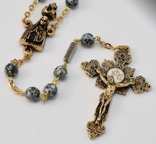 Our Lady of Fatima Gold Plated Rosary
