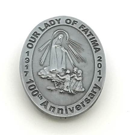 Our Lady of Fatima Visor Clip