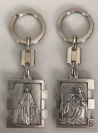 Our Lady of Grace / St. Christopher Keychain