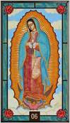 "Our Lady of Guadalupe Glass Suncatcher 8"" x 14"""