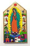 Our Lady of Guadalupe Wood Wall Plaque from El Salvador