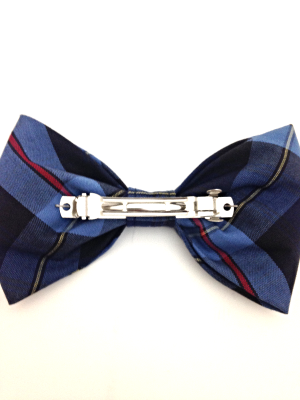 Plaid #41 Large Clip Bow