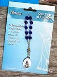 One Decade Rosary- Our Lady Of Lourdes - Illness Prayer Blue Beads