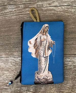 Our Lady of Lourdes Rosary Pouch from Turkey