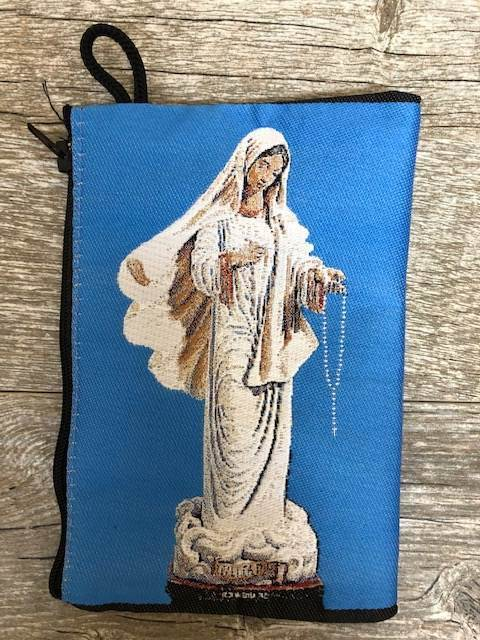 Our Lady of Lourdes Woven Pouch from Turkey