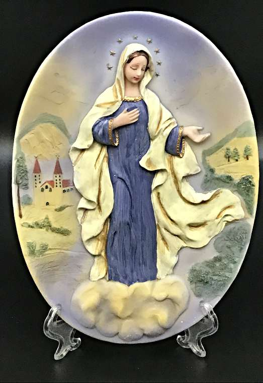 Our Lady of Medjugorje Plaque and Easel