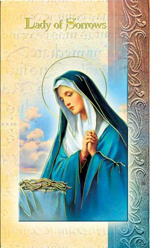 Our Lady of Sorrows Biography Card