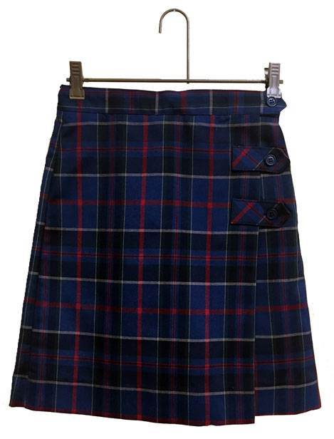 #93 Tab Front Uniform Culotte 14893, 4893 skirt, 48 style skirt, #93 plaid, 93 uniform plaid skirt, 93 uniform plaid, girls plaid uniform skirt, culotte, skort, skirt with shorts, wilson plaid, dennis wilson plaid, dennis wilson, wilson