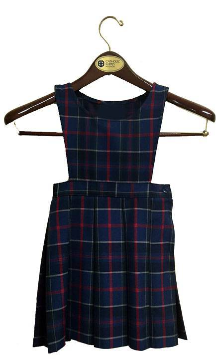 #93 Uniform Jumper with Knife Pleats 17593, 7593 jumper, 93 style skirt, #93 plaid, 93 uniform plaid jumper, 93 uniform plaid, girls plaid uniform jumper, wilson plaid, dennis wilson plaid, dennis wilson, wilson
