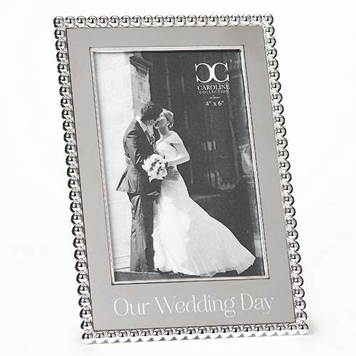 Our Wedding Day Frame, holds a 4x6 photo